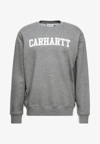 Carhartt WIP - COLLEGE - Sweatshirt - dark grey heather/white - 4