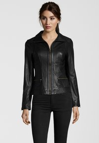 7eleven - TERRY - Leather jacket - black - 0