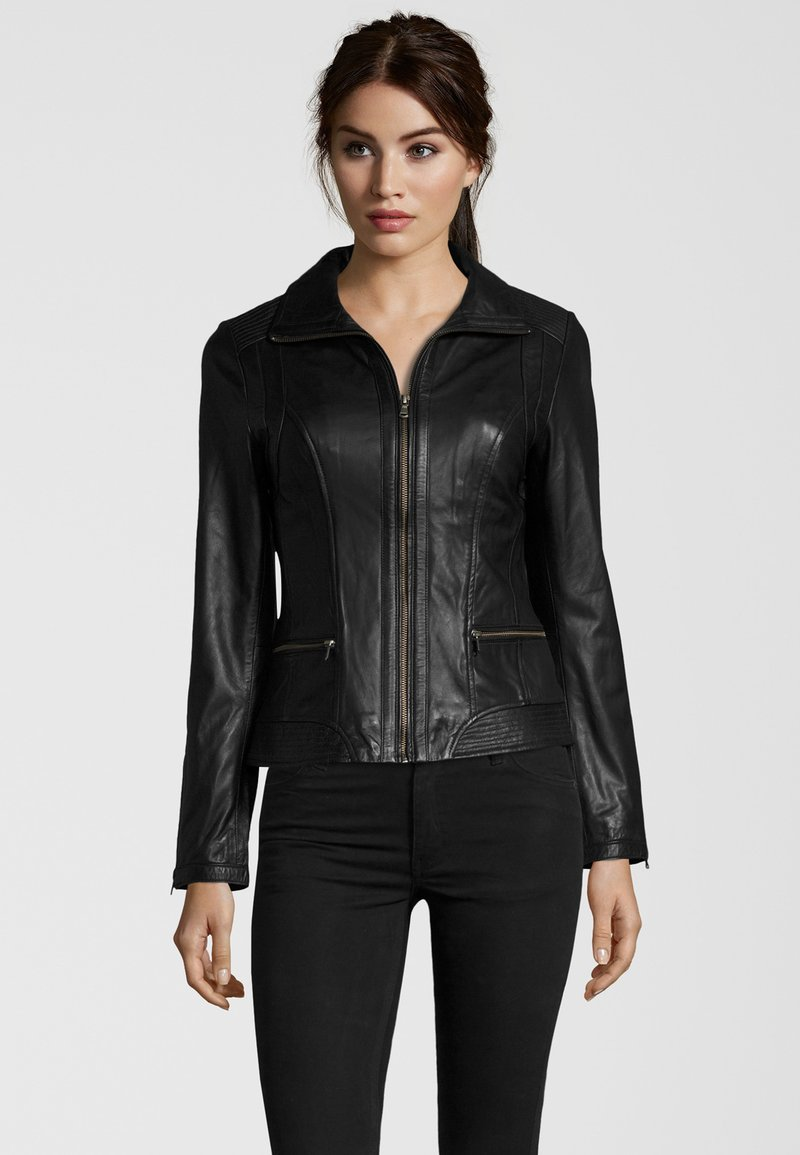 7eleven - TERRY - Leather jacket - black