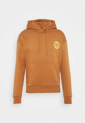 JORCOLTON BACKPRINT HOOD - Felpa - light brown