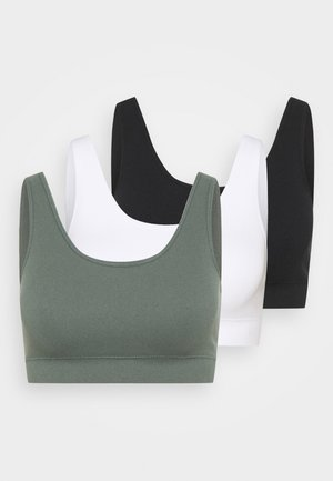 FLO 3 PACK - Bustier - black/green/white