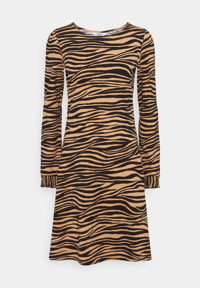 ZEBRA PUFF SLEEVE SUSTAINABLE DRESS - Day dress - multi