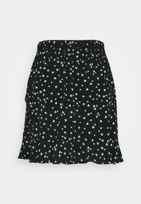 TOM TAILOR DENIM - VOLANT SKIRT - Mini skirt - black - 1