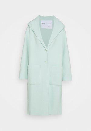 HOODED COAT - Classic coat - aqua