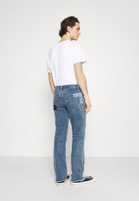 Jaded London - REWORKED PATCHWORK  - Jean bootcut - blue - 2