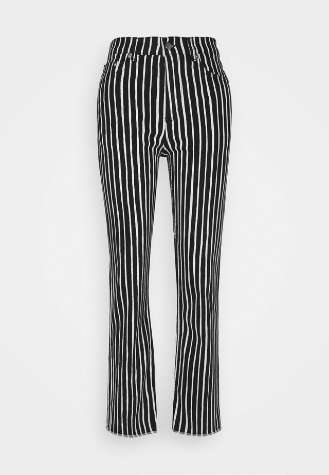 LAULELEN PICCOLO TROUSERS - Trousers - offwhite/black