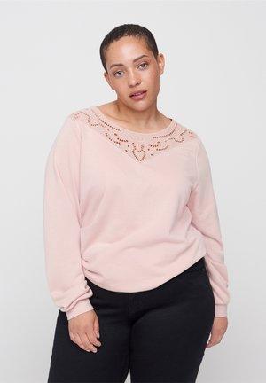 MED BLONDEDETALJER - Sweatshirt - rose