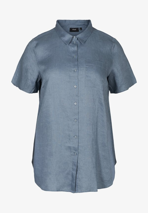 Zizzi Koszula - light blue/jasnoniebieski RYWE