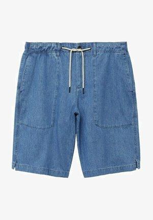 RAFI - Denim shorts - mittelblau