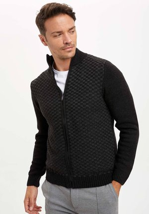 Strickjacke - anthracite