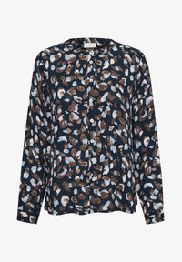 Kaffe - Blouse - blue brown graphical paint - 4