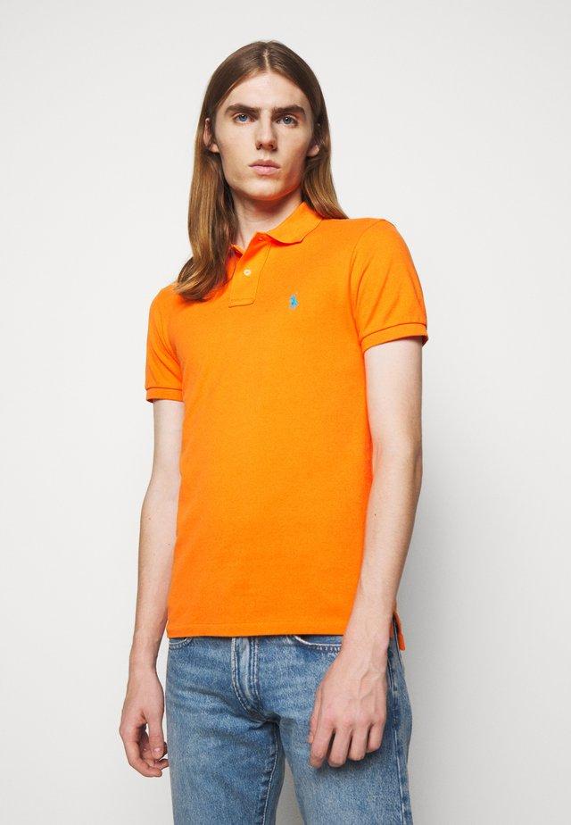 SHORT SLEEVE KNIT - Polo shirt - orange