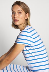 Polo Ralph Lauren - PIMA - Žerzejové šaty - white/rivera blu - 4