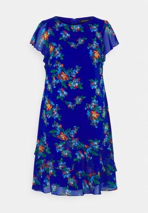 CYRENA SHORT SLEEVE DAY DRESS - Vapaa-ajan mekko - sapphire star/blue/multi