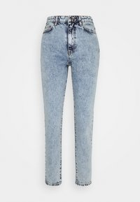 DAGNY HIGHWAIST - Jeans Tapered Fit - mid blue snow