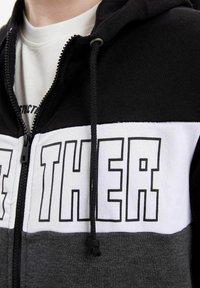 DeFacto - Zip-up hoodie - black - 4