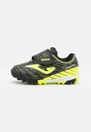 XPANDER JUNIOR UNISEX - Astro turf trainers - black/yellow