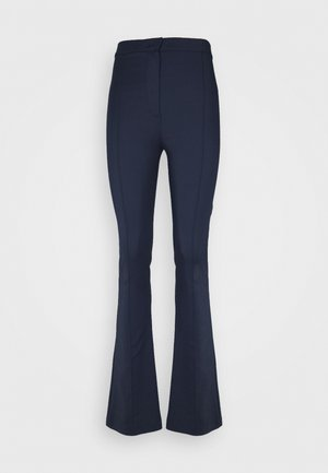 FLARED TROUSERS - Trousers - navy