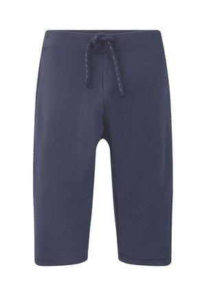 MIT GLITZER-STREIFEN - Tracksuit bottoms - black iris blue