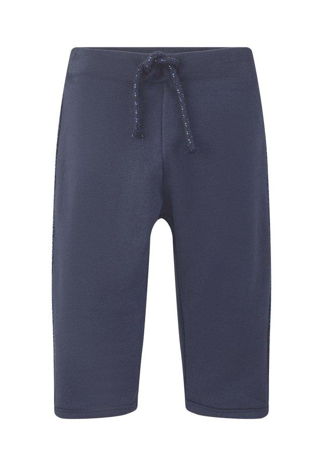 MIT GLITZER-STREIFEN - Pantalones deportivos - black iris blue