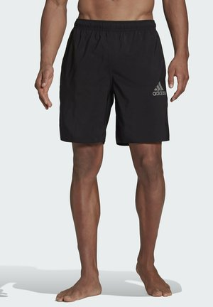 SOLID SWIM SHORTS - Swimming shorts - black