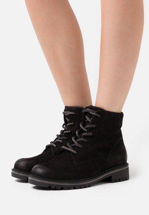 BOOTS - Šněrovací kotníkové boty - black