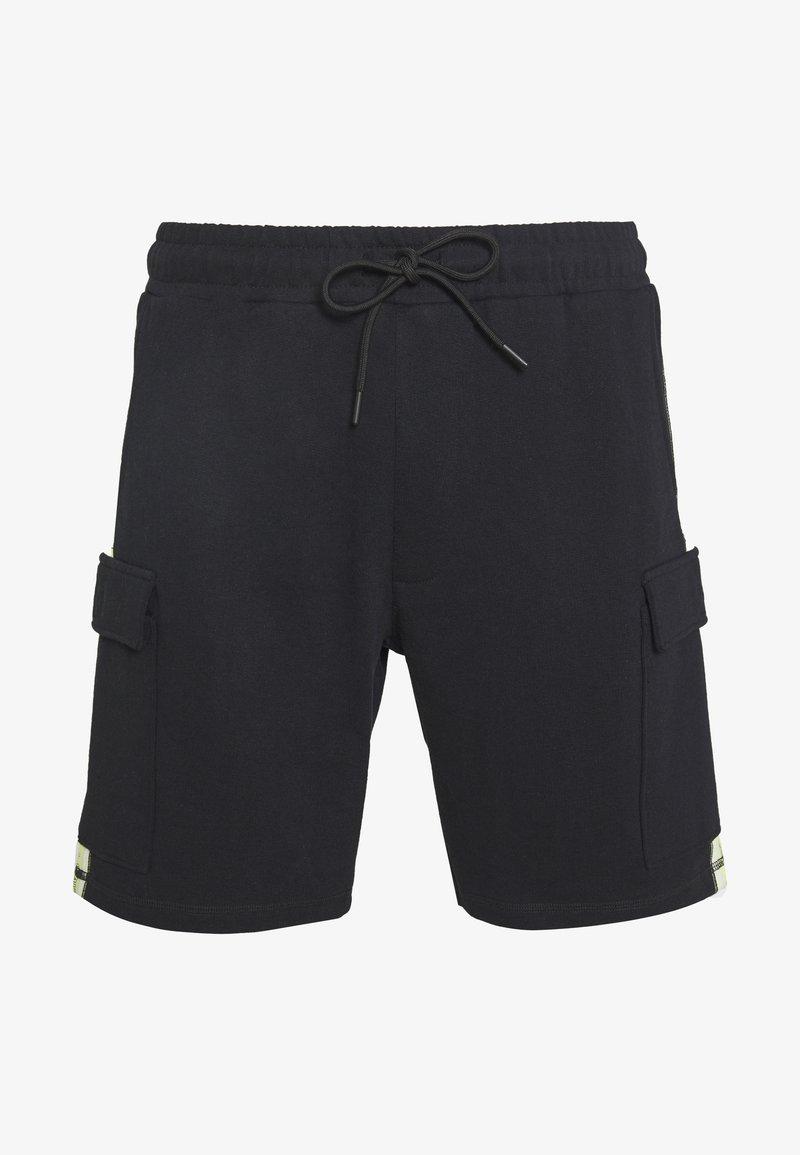 Mennace - BRANDED MENNACE LIMITED SIDE TAPE - Shorts - black