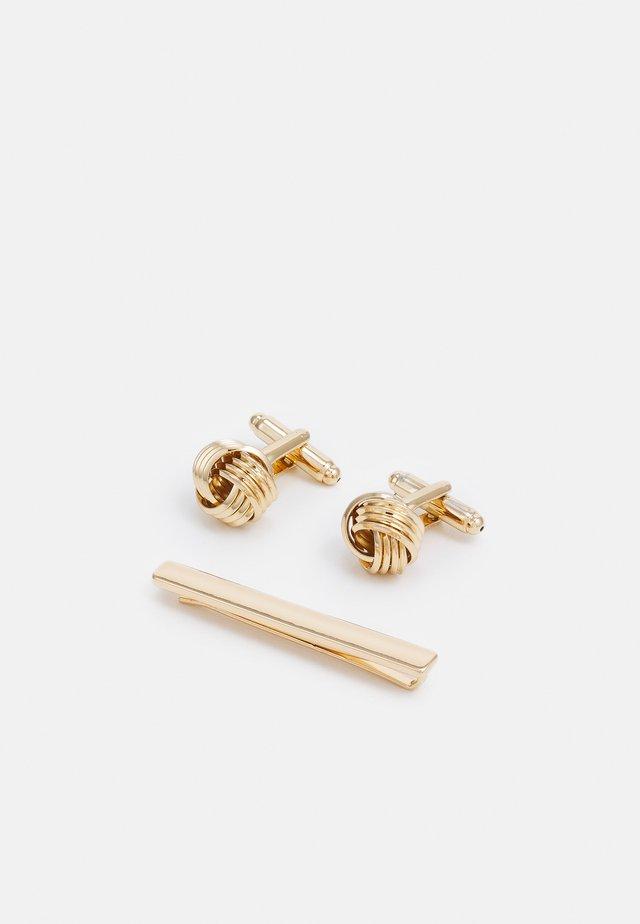KNOT CUFFLINK AND TIEPIN SET - Cufflinks - gold-coloured