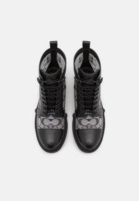 Coach - LANA BOOTIE - Šněrovací kotníkové boty - black - 5