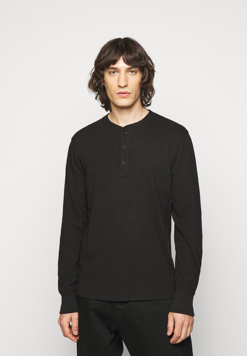rag & bone - CLASSIC HENLEY - Long sleeved top - black