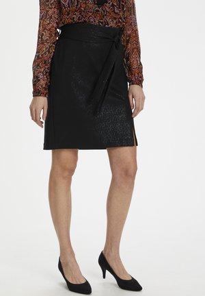 A-line skirt - pitch black