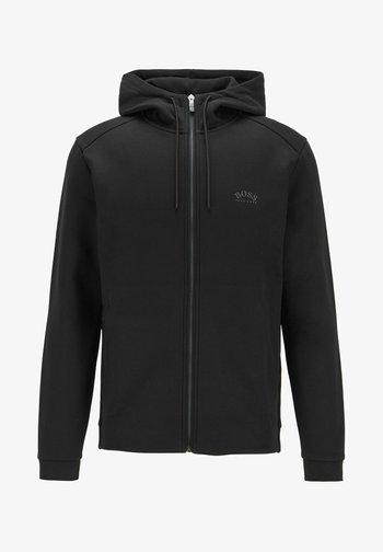 SAGGY - Sweat à capuche zippé - black