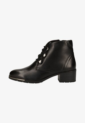 Lace-up ankle boots - black antic 002