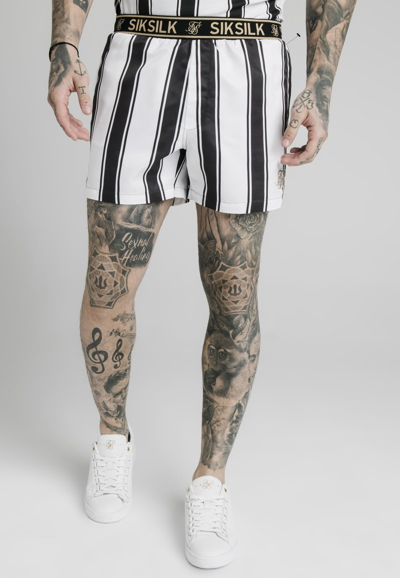 SIKSILK - STANDARD - Shorts - black/white