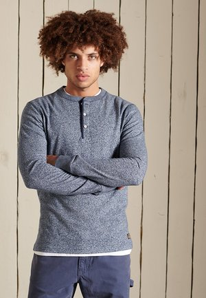 HENLEY - Long sleeved top - frosted navy grit