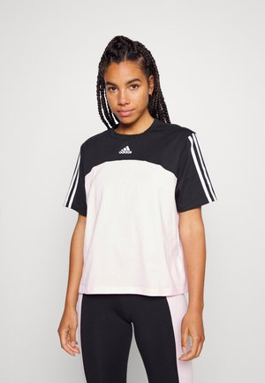 Print T-shirt - black/clear pink