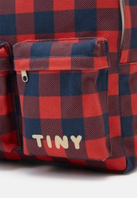 TINYCOTTONS - CHECK BIG BACKPACK - Mochila - navy/red - 3