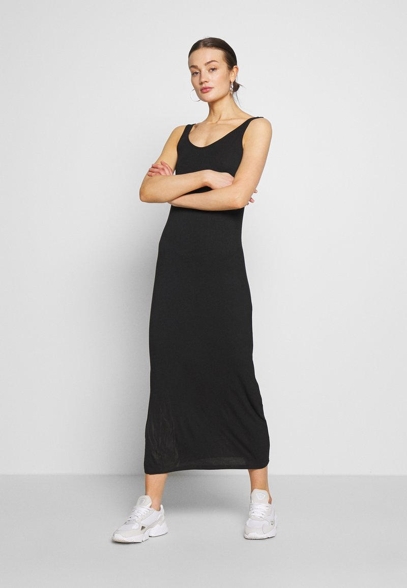 Pieces - MAXI TANK DRESS - Vestido largo - black