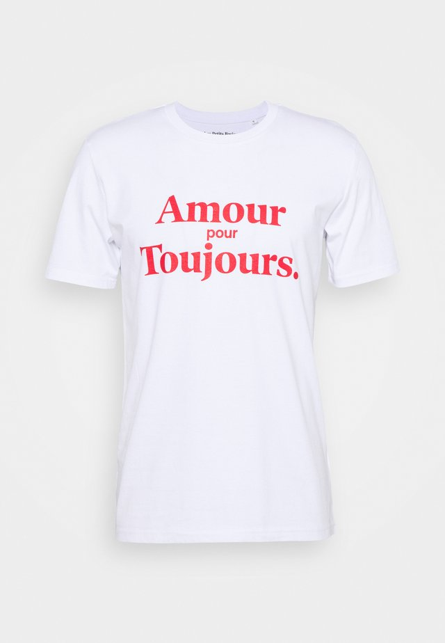 AMOUR POUR TOUJOURS UNISEX - Print T-shirt - white/red