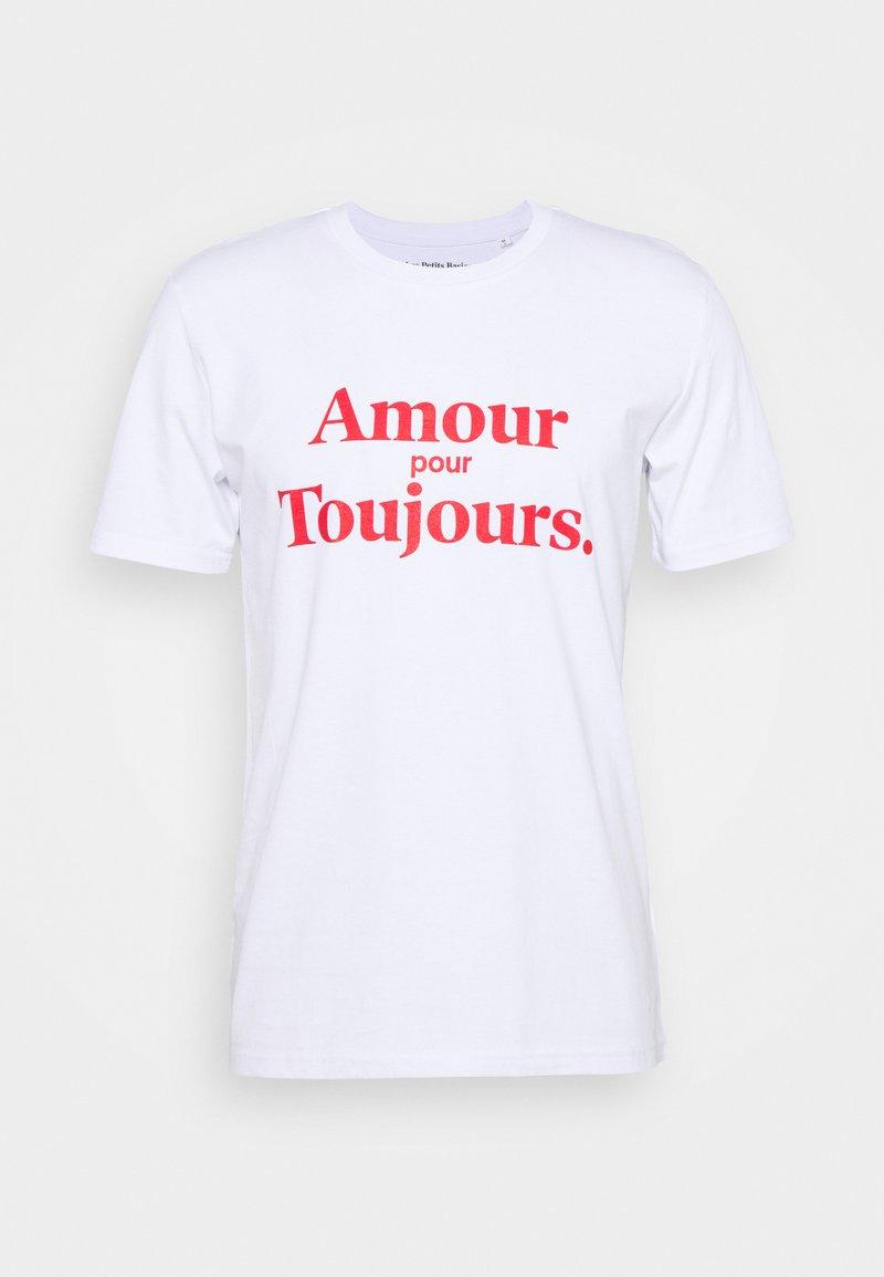 Les Petits Basics - AMOUR POUR TOUJOURS UNISEX - Print T-shirt - white/red