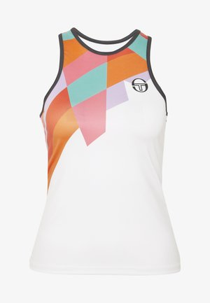 TANGRAM TANK TOP - Sports shirt - white/multicolor