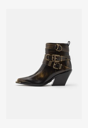 LOW KOLE - Cowboy/biker ankle boot - gold