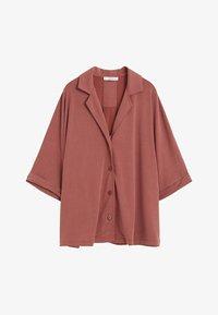 Violeta by Mango - CUPER - Button-down blouse - granatrot - 4