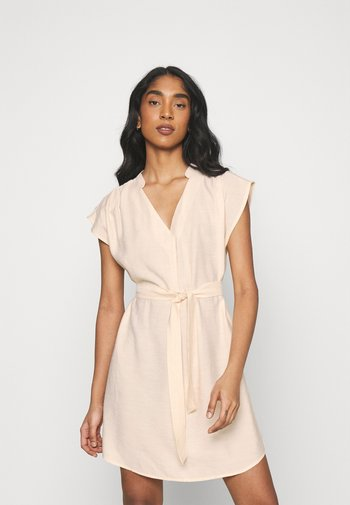 ONLJOSEY V NECK DRESS - Day dress - ecru