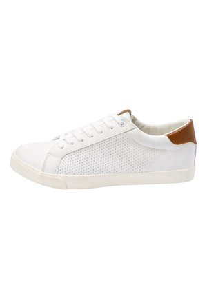 GREY PERFORATED TRAINERS - Trainers - white