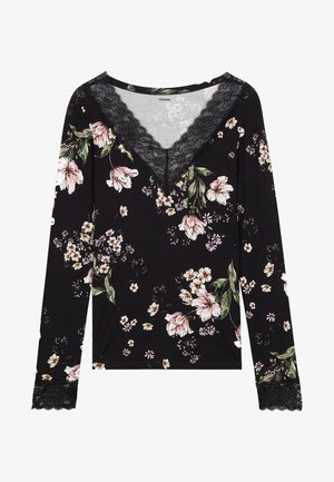 LONG SLEEVED - Blouse - nero st.floral bouquet
