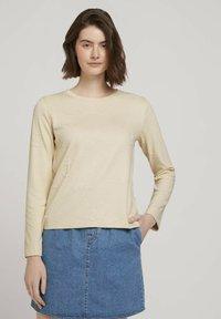 TOM TAILOR DENIM - Sweatshirt - soft creme beige - 0