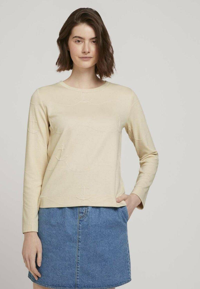 TOM TAILOR DENIM - Sweatshirt - soft creme beige