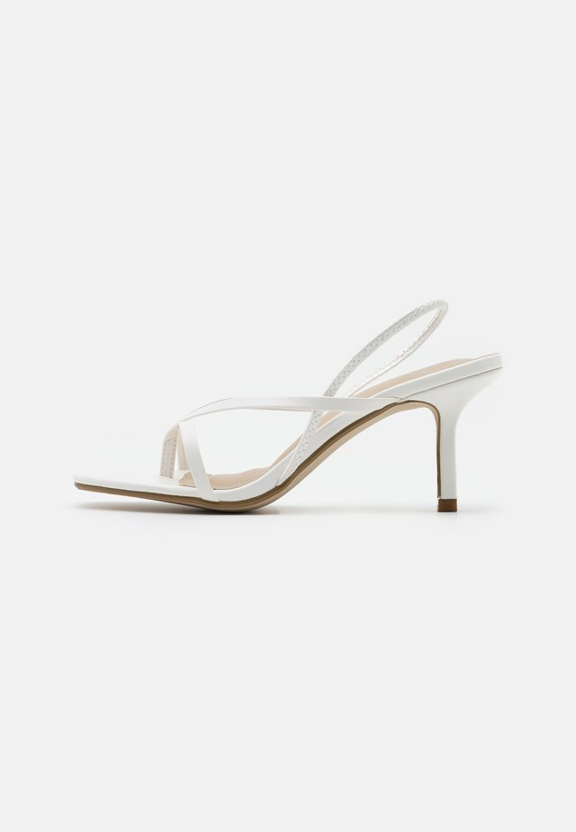 SLING BACK THONG DETAIL  - High heeled sandals - white