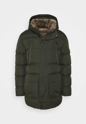 REG FIT FILLED LONGS - Down coat - dark rosin